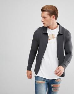 Легкая черная куртка Харрингтон ASOS - Черный