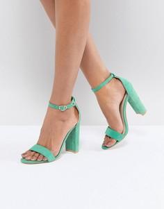 Зеленые босоножки на каблуке Glamorous - Зеленый
