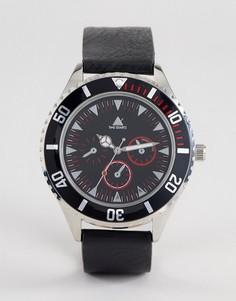 Черные часы с контрастным безелем и красной отделкой ASOS - Черный