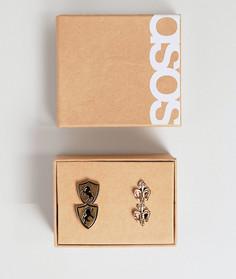 Запонки в подарочном наборе ASOS - Золотой