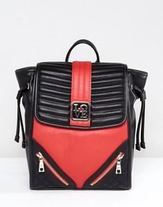 Рюкзак с молнией Love Moschino - Красный