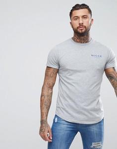 Серая футболка с логотипом на груди Nicce London - Серый