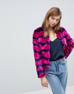 Куртка из искусственного меха Unreal Fur Abracadabra - Фиолетовый