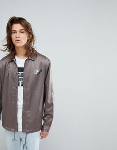 Атласная спортивная куртка с принтом на спине Fairplay - Серый