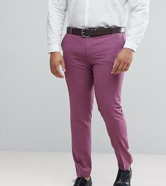 Брюки скинни сливового цвета Noose & Monkey PLUS - Фиолетовый