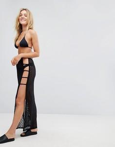 Ажурная пляжная юбка New Look - Черный