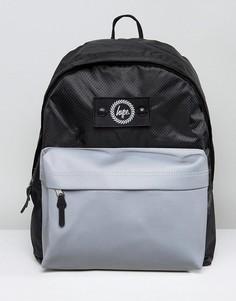 Черный рюкзак со светоотражающим карманом Hype - Черный