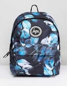Черный рюкзак с принтом листьев Hype - Черный