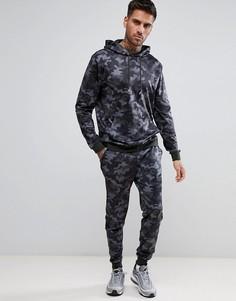 Камуфляжный спортивный костюм ASOS - Черный