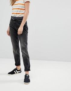 Джинсы в винтажном стиле с молниями Lee - Черный