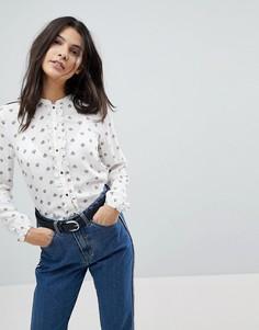 Рубашка с принтом Esprit Conversational - Белый