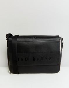 Сумка почтальона с тисненой отделкой Ted Baker - Черный