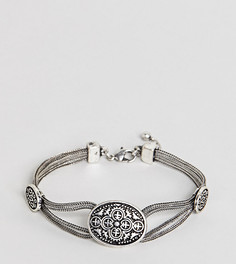Серебристый браслет-цепочка с филигранным узором Reclaimed Vintage Inspired эксклюзивно для ASOS - Серебряный