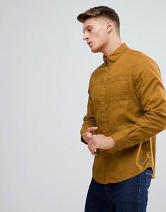 Рубашка горчичного цвета с карманом Esprit - Желтый