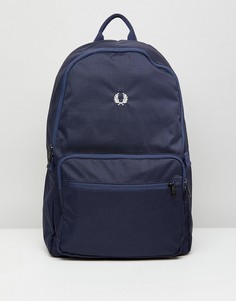 Темно-синий саржевый рюкзак в клетку Fred Perry - Темно-синий