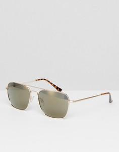 Солнцезащитные очки-авиаторы с зеркальными стеклами AJ Morgan - Золотой