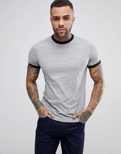 Серая узкая футболка Fred Perry - Серый