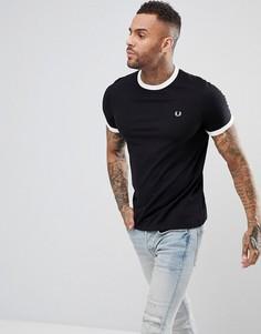Черная узкая футболка Fred Perry - Черный