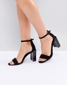 Босоножки на блочном каблуке Public Desire Kitty - Черный