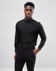 Приталенная рубашка Burton Menswear - Черный