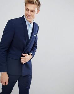 Приталенный пиджак Burton Menswear - Темно-синий