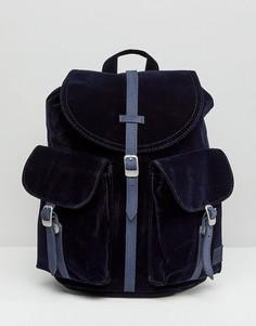 Темно-синий бархатный рюкзак Herschel Dawson - Темно-синий