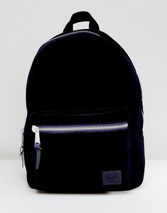 Темно-синий бархатный рюкзак Herschel - Темно-синий