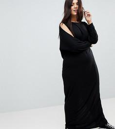 Платье макси с длинными рукавами ASOS CURVE - Черный