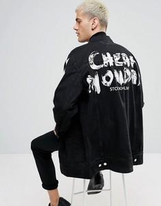 Джинсовая куртка с принтом граффити Cheap Monday - Черный