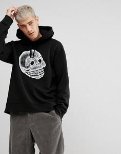 Худи черного цвета с логотипом в виде черепа Cheap Monday - Черный