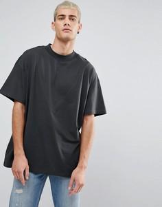 Черная футболка со вставками Cheap Monday Apart - Черный