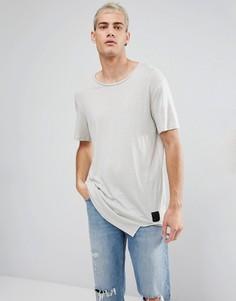 Светло-бежевая футболка с асимметричным краем Cheap Monday Divide - Бежевый