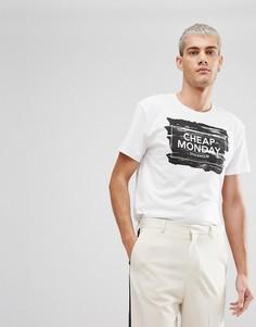 Белая футболка с логотипом Cheap Monday - Белый