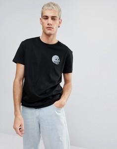 Черная футболка с голографическим логотипом Cheap Monday - Черный
