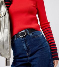 Кожаный длинный ремень для джинсов Retro Luxe - Черный