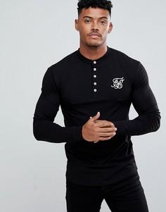 Черная облегающая футболка-поло SikSilk - Черный