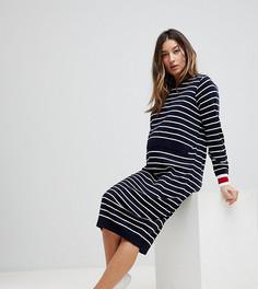 Платье для кормления в полоску ASOS Maternity - Темно-синий