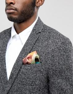 Шелковый платок для пиджака в полоску Paul Smith Clash - Мульти