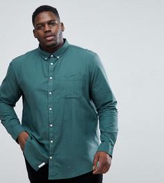 Зеленая приталенная рубашка River Island PLUS - Зеленый