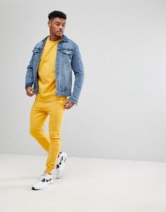 Желтые джоггеры скинни и оверсайз свитшот ASOS - Желтый