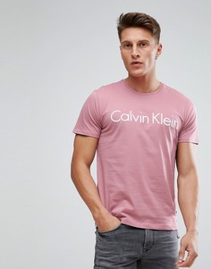 Футболка с круглым вырезом и логотипом Calvin Klein - Розовый