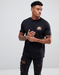 Черная футболка с маленьким логотипом Ellesse - Черный