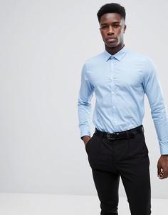 Голубая поплиновая рубашка New Look - Синий