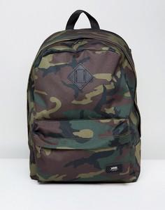 Рюкзак с камуфляжным принтом Vans Old Skool Plus V002TM97I - Зеленый