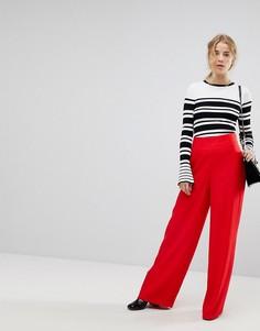 Широкие брюки с завышенной талией Miss Selfridge - Красный