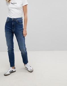 Узкие джинсы в винтажном стиле с завышенной талией Pepe Jeans Betty - Синий