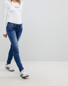 Джинсы скинни с заниженной талией Pepe Jeans Soho - Синий