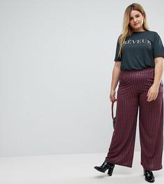 Широкие брюки в полоску Pink Clove - Мульти