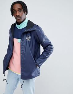 Темно-синяя прорезиненная спортивная куртка с капюшоном Herschel Supply Co Forecast - Темно-синий