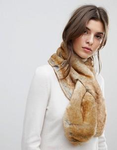 Меховой шарф-воротник Pieces - Бежевый